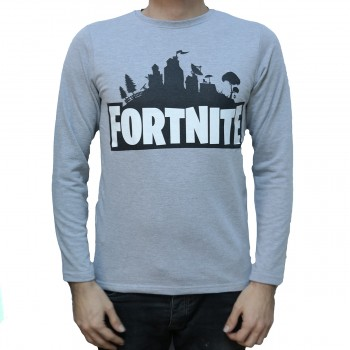 Fortnite Gri Sweatshirt
