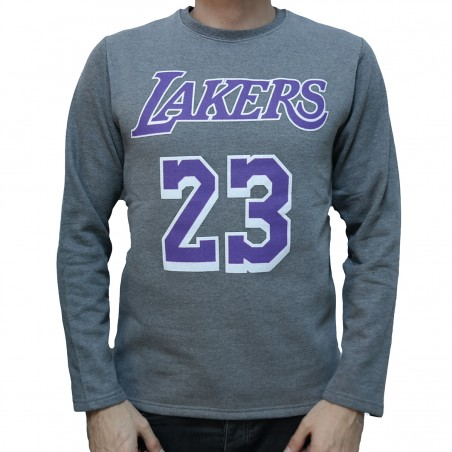 Lakers 23 James Gri Sweatshirt
