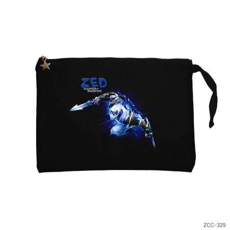 League of Legends Zed Blue Clutch Astarlı Cüzdan / El Çantası