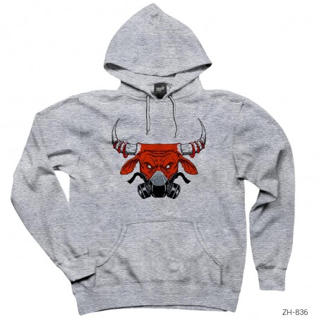 Chicago Bulls with Mask Kapşonlu Sweatshirt / Hoodie
