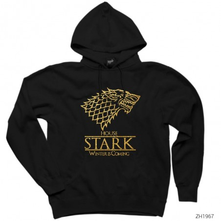 Game of Thrones House Stark Winter is Coming Kapşonlu Sweatshirt / Hoodie