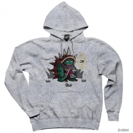 League of Legends Rammus Ok Beyaz Kapşonlu Sweatshirt / Hoodie