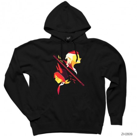 League of Legends Xayah and Rakan Siyah Kapşonlu Sweatshirt / Hoodie