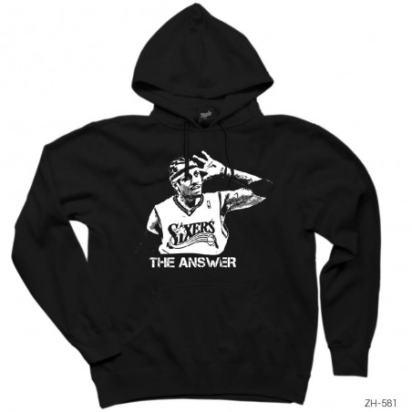 Allen Iverson The Answer Kapşonlu Sweatshirt