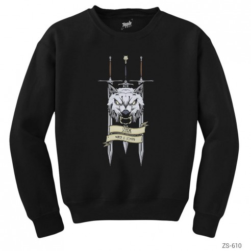 Game of Thrones Wolf and Sword Sweatshirt