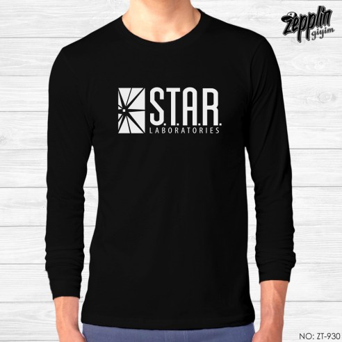 The Flash Star Lab Siyah Sweatshirt