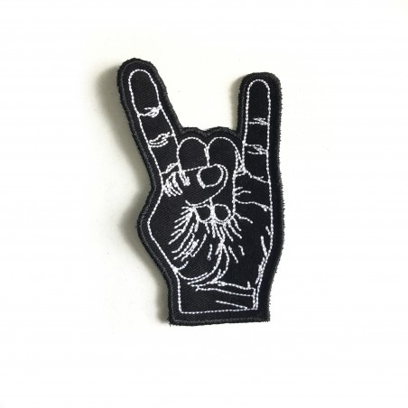 Rock n Roll Hand Patch